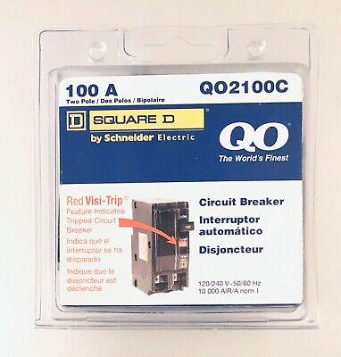 Square D Qo2100c Qo2100 100 Amp Two Pole Circuit Breaker New