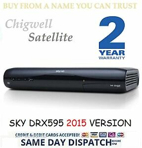 SKY HD SATELLITE RECEIVER BOX AMSTRAD DRX595 3D READY MINT