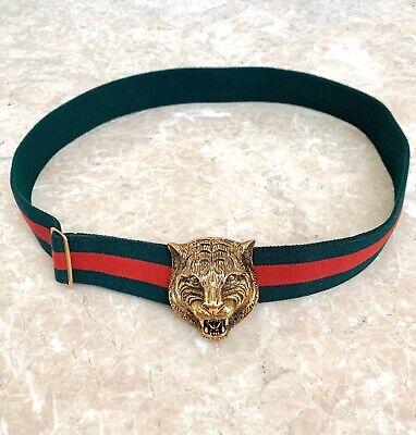 100% Authentic Gucci Belt Men w/ Gold Tiger Buckle