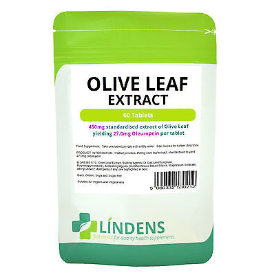 OLIVE LEAF EXTRACT 450MG 60 TABLETS HIGH POTENCY NATURAL -