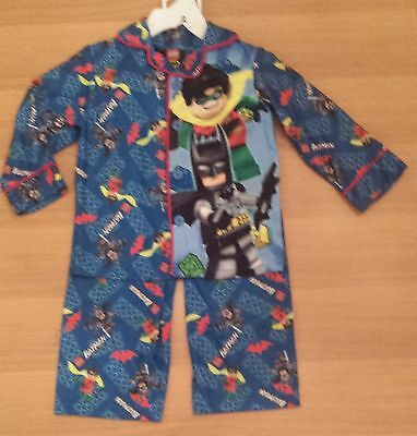 LEGO BATMAN & ROBIN Flannel Pajamas Shirt & Pants 2T ~ NWT Batman And Robin Pajamas