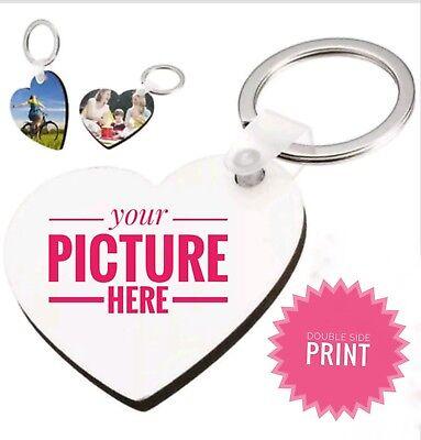 Custom Key Chain  PHOTO, LOGO, TEXT personalizedheart shape key chain  ](Custom Key Chain)