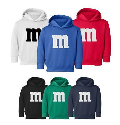 M&M Halloween Costume M and M Costumes Favourite Kids Toddler Hooded Sweatshirt