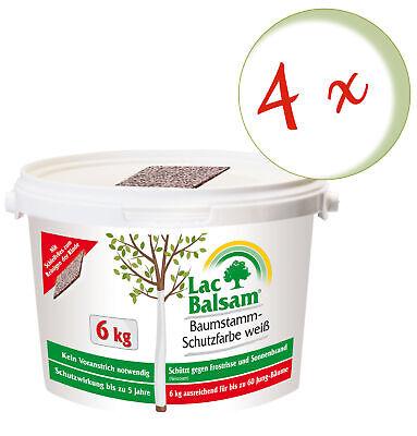 Sparset: 4 X Frunol Delicia Etisso Lacbalsam Baumstamm-Schutzfarbe White, 6 KG
