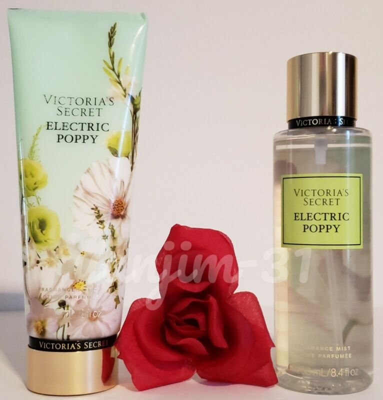 VICTORIA SECRET - ELECTRIC POPPY - FRAGRANCE LOTION N MIST (SET) - NEW