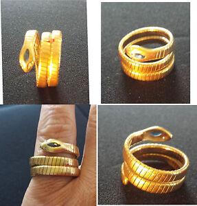 "18 ct gold snake ""viper"" ring / anello serpente ""aspide"" oro 18 kt - Italia - 18 ct gold snake ""viper"" ring / anello serpente ""aspide"" oro 18 kt - Italia"