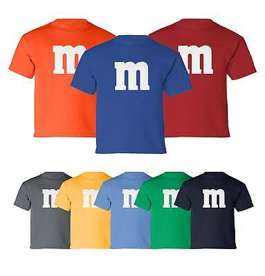 M&M Halloween Costume M and M Costumes Favourite Boys Girls Youth T-Shirt Costume Youth T-shirt