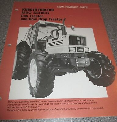 Kubota M50 Series Cab Row Crop Tractor New Product Guide Manual 22 Pages