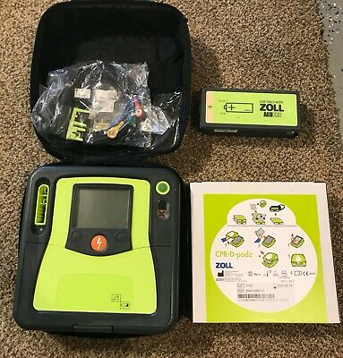 Zoll Aed Pro With Case Ecg Leads New Battery 2025 Cpr-d Pads Semi And Manual