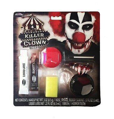 Killer Clown Makeup Kit Halloween Accessory Fun World - Fun World Halloween Makeup Kits