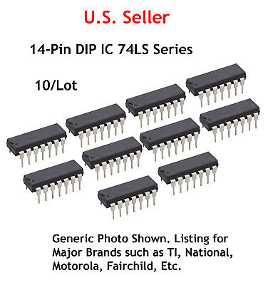 Qty 10 74LS257AN 74LS257 QUAD 2-LINE TO 1-LINE DATA SELECT//MULTI IC 16-PIN DIP