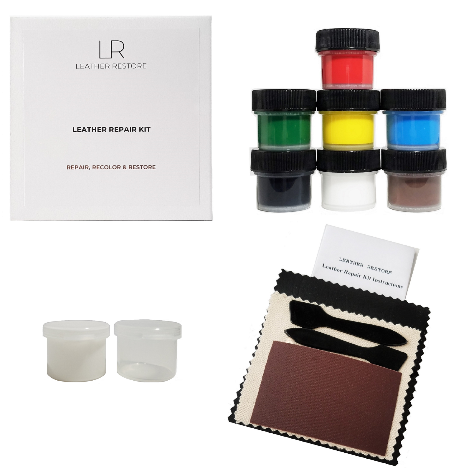 Leather Vinyl Repair Kit For Couches, Furniture, Boots, Shoe