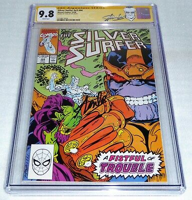 Silver Surfer #v3 #44 CGC SS 9.8 Signature Signed STAN LEE 1st Infinity Gauntlet