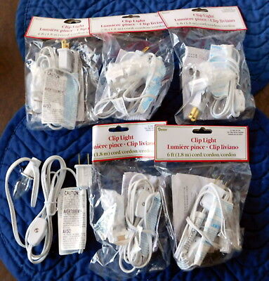 Darice 6402  6 White Lights PIECES  6 Ft Cord  Butterfly clip  Socket Switch NEW
