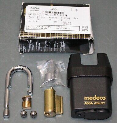 Medeco Assa Abloy Padlock 54525 No Key No Pins Dl 516 Boron Shackle