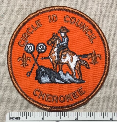 CAMP CHEROKEE Boy Scout Camper PATCH Circle Ten Council BSA 10 Mikanakawa 101 TX