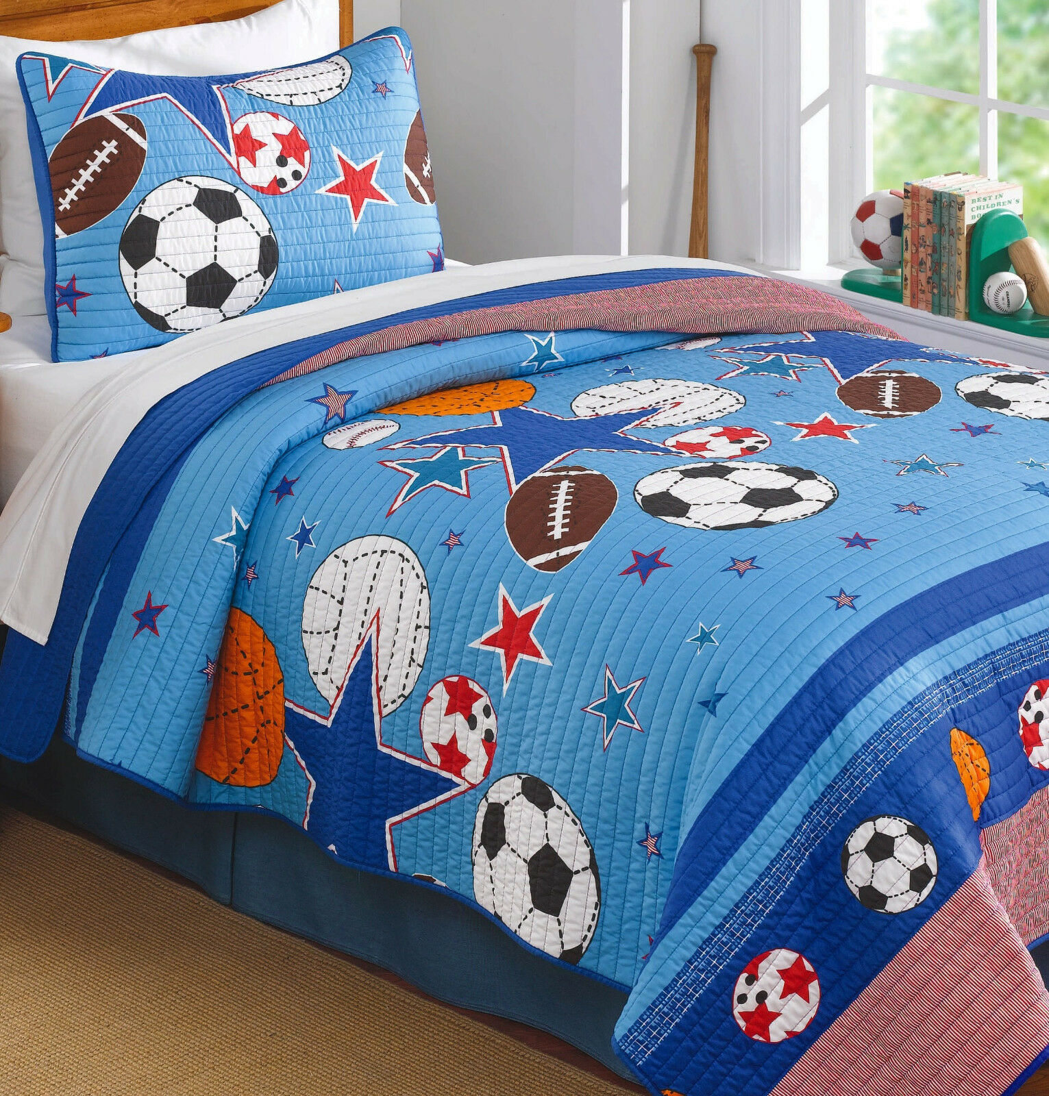 queen quilt bedding sets boys sports arena quilt set 2 pc twin