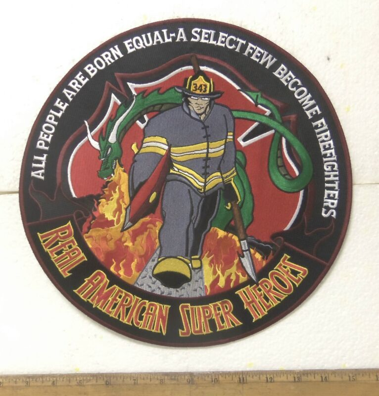 Firefighters Real American Super Heroes Back Patch