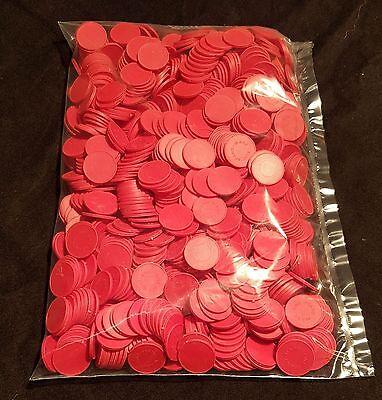 2000 Stück Wertmarken Einkaufswagenchips Pfandmarken Veranstaltung Event Rot