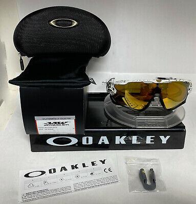 Oakley JAWBREAKER Sunglasses SPATTER WHITE / 24K IRIDIUM OO9290-4531
