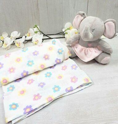 Baby elephant gift Set Muslin Elephant toy gift box pink