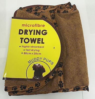 PET MICROFIBRE 2 HANDED POCKET TOWEL DOG CAT QUICK EASY DRYING BATH MUDDY PUPS