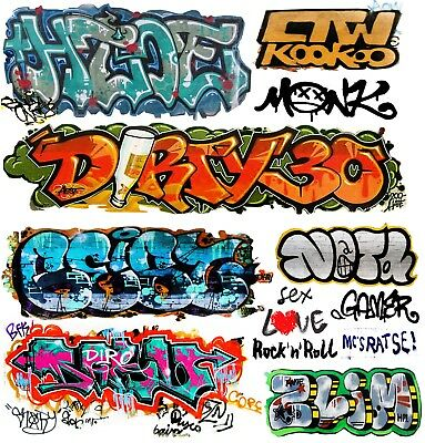 O Scale Custom Graffiti Decals #35 - Weather Your Box Cars, Gondolas & Hoppers!