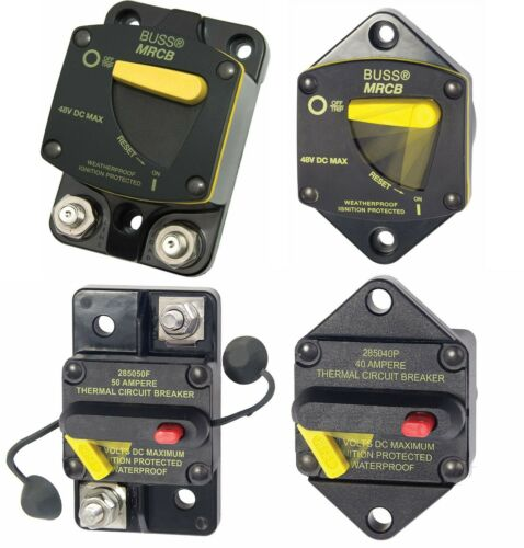 Eaton Cooper Bussmann 187 & 285 Series Reset Circuit Breaker 25A - 200A 48V DC