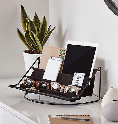 Umbra® Hammock Tischorganizer Schreibtisch Organizer Briefablage schwarz Stoff ()
