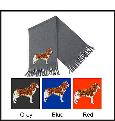 Siberian Husky Scarf Perfect Gift Embroidered by Dogmania - Embroidered Siberian Husky