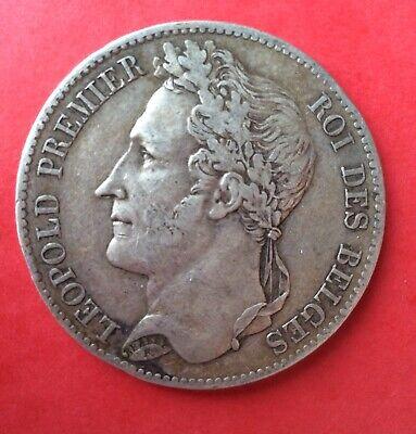Belgique - Léopold Ier -Très Jolie Monnaie 5 Francs 1849 - Laurée
