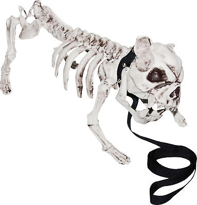 Skeleton Dog Halloween Prop Skull Bones Pet Bulldog Haunted House Decoration