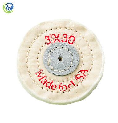 Muslin Buffing Polishing Wheel 3 X 30 Ply Dental Laboratory Jewelry Hobby