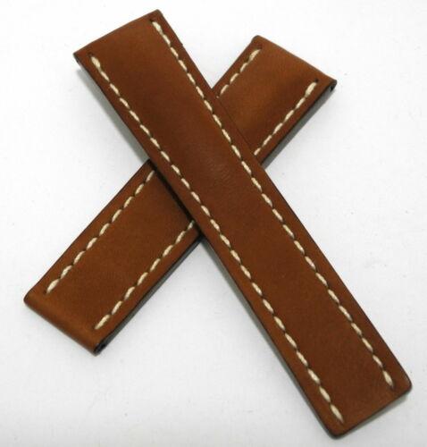 Breitling  Lederband 24 MM für Faltschließe ungetragen