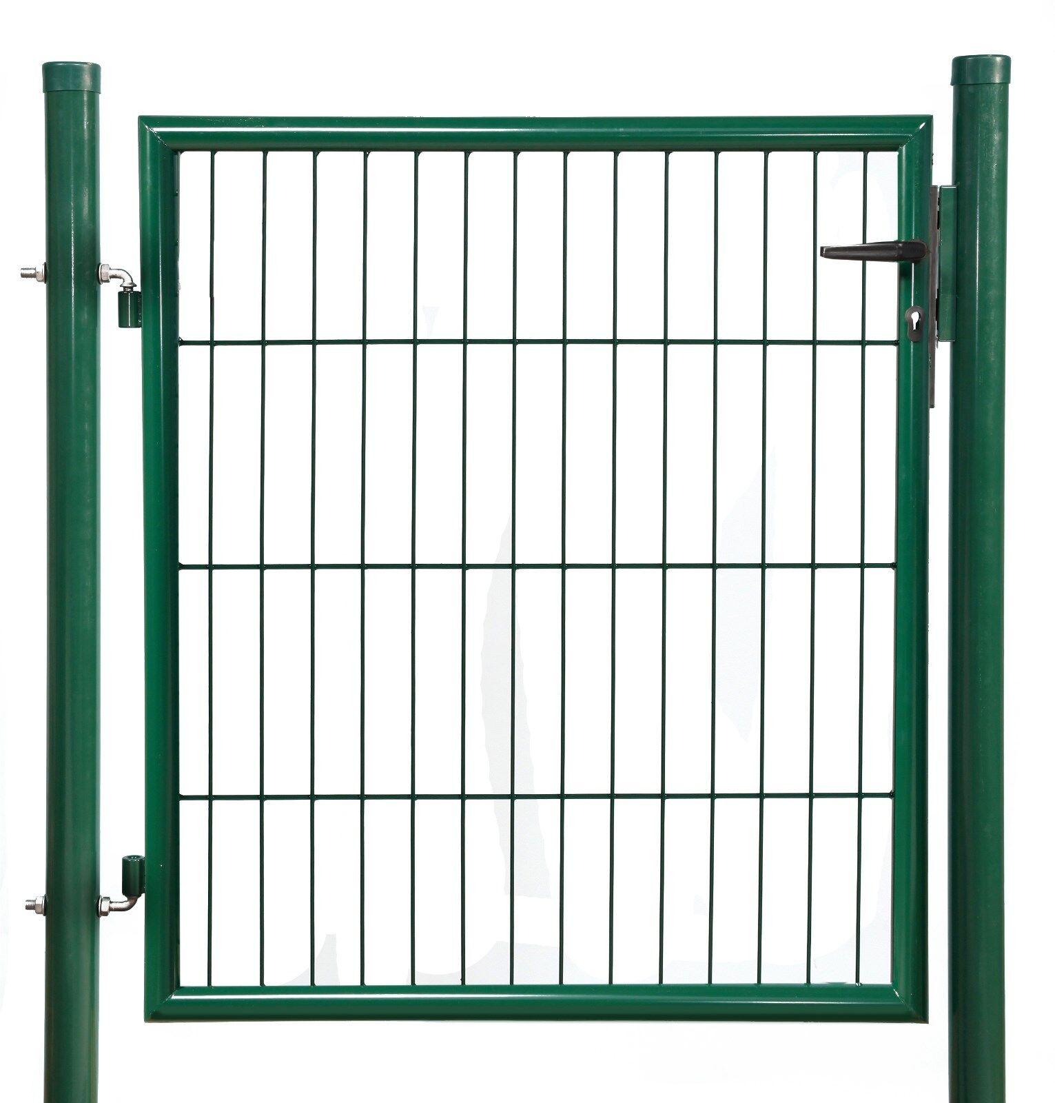 Gartenpforte, Einzeltor, Zauntor, Metall grün 1000x1000 mm, kompl. mit Zubehör