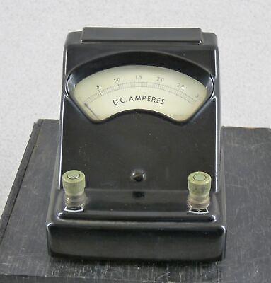 Vintage Welch 3031h Bakelite Dc Ampere Meter Ammeter 0-3a Free Shipping