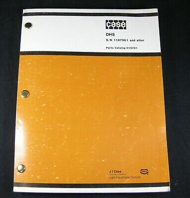 Case Dh5 Trencher Tractor Backhoe Plow Parts Manual Book Sn 1187961 After Oem