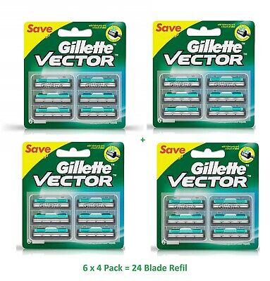 Gillette Vector Cartridges 24 Blades Blade Fits Contour Atra Plus Refil Fre Ship Atra Plus Refill Cartridges