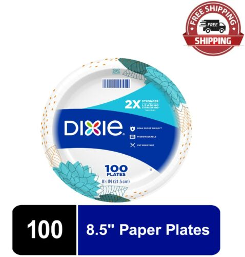 """Dixie Everyday Paper Plates, 8.5"""" - 100 Count"""