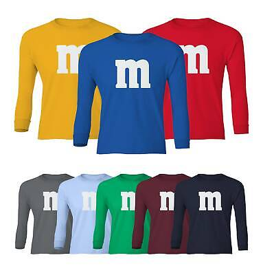 M&M Halloween Costume M and M Costumes Favourite Youth Long Sleeve T-Shirt Costume Youth T-shirt