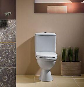 WC Toilette Stand Tiefspüler Set Bodenstehend Spülkasten Keramik Sitz Cersanit