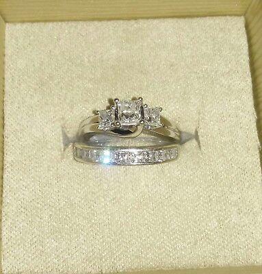 Princess cut 3 stone Diamond ring set 3 Stone Princess Ring Setting