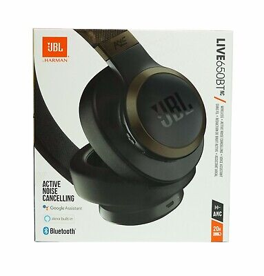 JBL LIVE 650BTNC Wireless Over-Ear Noise-Cancelling Headphones *LIVE650NCBLK