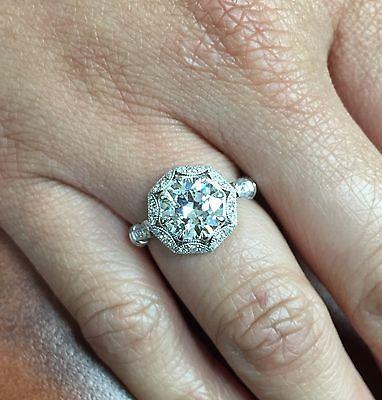 2.48ct Round GIA Certified Vintage Platinum Diamond Engagement Ring 4
