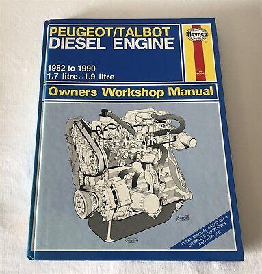 Peugeot/Talbot Diesel Engine Owner's Workshop Haynes 950 Manual Hardback 1990