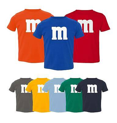 M&M Halloween Costume M and M Costumes Favourite Kids Girls Boys Toddler T-shirt