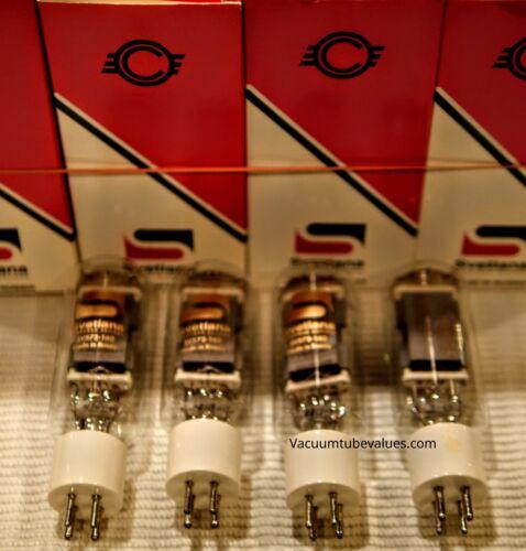 Svetlana Factory Platinum Matched  QUAD Four SV572-160 Power Triode Tubes