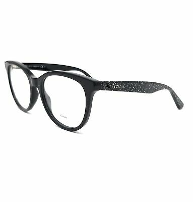 JIMMY CHOO Eyeglasses JC205 NS8 Black Glittr Women 52x18x140