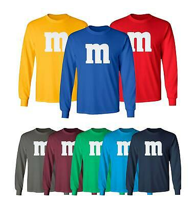 Halloween T Shirt Costumes (M&M Halloween Costume M and M Costumes Favourite Men's Long Sleeve)