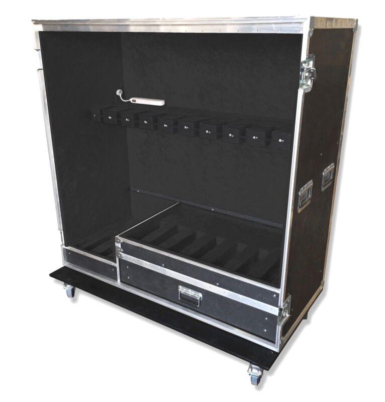 10 space ATA guitar vault road case